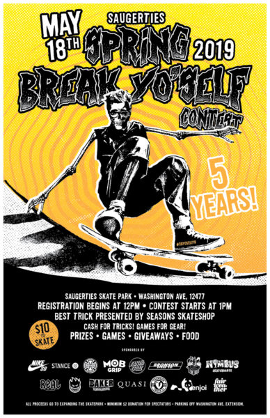 Saugerties Spring Break Yo'Self Contest @ Saugerties Skate Park | Saugerties | New York | United States