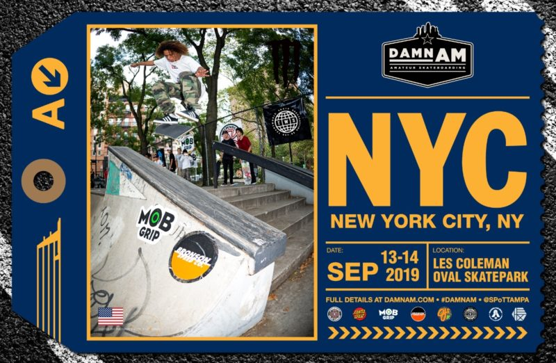 2019 Damn AM NYC @ LES Skatepark | New York | New York | United States