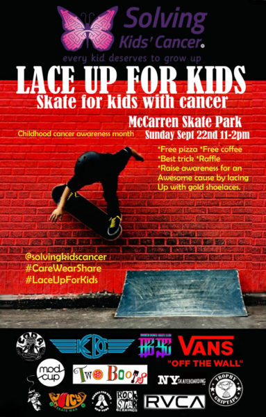 Lace Up For Kids - Skate for kids with cancer @ McCarren Skate Park | New York | United States